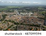 Aerial View Of The City Of...