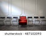 comfortable armchair for a... | Shutterstock . vector #487102093