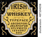 irish whiskey   vector font  ... | Shutterstock .eps vector #487104058