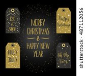 tags for christmas gifts.... | Shutterstock .eps vector #487112056