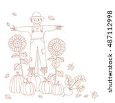 Autumn Design For Coloring Boo...