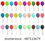 30 balloons vector illustrations | Shutterstock .eps vector #487113679