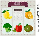 vitamin c. vector illustration  ... | Shutterstock .eps vector #487119226