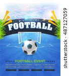 football event poster template... | Shutterstock .eps vector #487127059