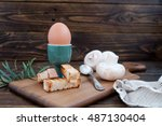 Boiled Egg In An Eggcup And...