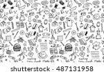 sewing  seamless pattern for... | Shutterstock .eps vector #487131958