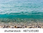 crystal clear water in the... | Shutterstock . vector #487135180