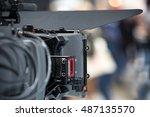 tv camera look from behind | Shutterstock . vector #487135570