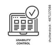 usability control thin line...