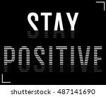 slogan print graphic. for t... | Shutterstock .eps vector #487141690