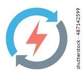 renewable energy vector icon    Shutterstock .eps vector #487142599