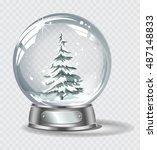 vector realistic transparent... | Shutterstock .eps vector #487148833