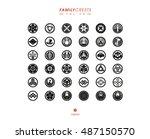 japanese family crests... | Shutterstock .eps vector #487150570