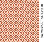 seamless vintage geometric... | Shutterstock .eps vector #487154158