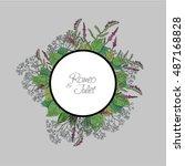 vector wildflowers for books ... | Shutterstock .eps vector #487168828