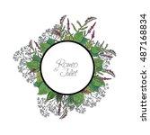 vector wildflowers for books ... | Shutterstock .eps vector #487168834