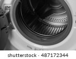 washing machine drum | Shutterstock . vector #487172344