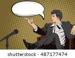 retro pop art comic men   Shutterstock .eps vector #487177474