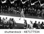 fashion show  a catwalk event... | Shutterstock . vector #487177534