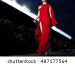 fashion show  a catwalk event   Shutterstock . vector #487177564