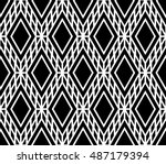 black and white color optical... | Shutterstock .eps vector #487179394