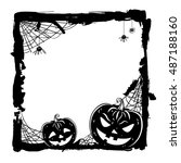 halloween abstract background... | Shutterstock . vector #487188160