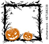 halloween abstract background... | Shutterstock . vector #487188238