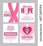 breast cancer october awareness ... | Shutterstock .eps vector #487189594