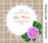greeting card or invitation... | Shutterstock .eps vector #487193560