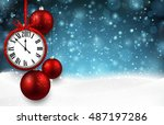 2017 new year background with... | Shutterstock .eps vector #487197286