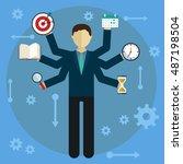 development and internet...   Shutterstock .eps vector #487198504