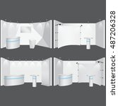 vector trade booth mockups | Shutterstock .eps vector #487206328