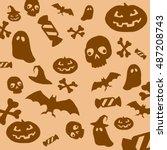 halloween 7 | Shutterstock . vector #487208743