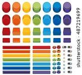 rainbow flat web buttons