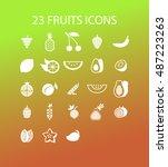 fruit icons | Shutterstock .eps vector #487223263