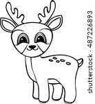 Funny Cartoon Baby Deer....