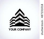 buildings silhouette logo ... | Shutterstock .eps vector #487231018