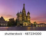saint basil's cathedral in red... | Shutterstock . vector #487234300