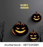 halloween background. vector... | Shutterstock .eps vector #487234384