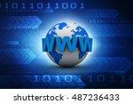 3d rendering word www is... | Shutterstock . vector #487236433