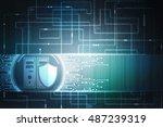 2d illustration protection... | Shutterstock . vector #487239319