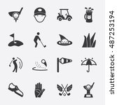 golf vector icon | Shutterstock .eps vector #487253194