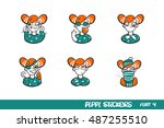 sticker pack with a redhead...