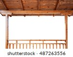 Porch Roof And Railings Made Of ...