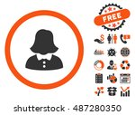 woman pictograph with free... | Shutterstock .eps vector #487280350