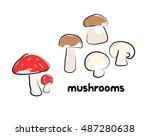 vector illustration of cartoon... | Shutterstock .eps vector #487280638