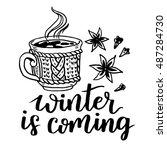 winter is coming vector... | Shutterstock .eps vector #487284730