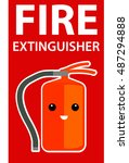 fire extinguisher sign | Shutterstock .eps vector #487294888