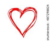 red heart vector. | Shutterstock .eps vector #487298824