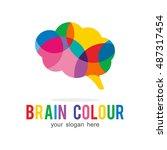 brain mind creative idea color... | Shutterstock .eps vector #487317454